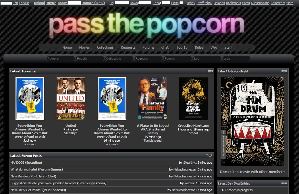 PassThePopcorn l PTP l Movies-TV l 2013 Review