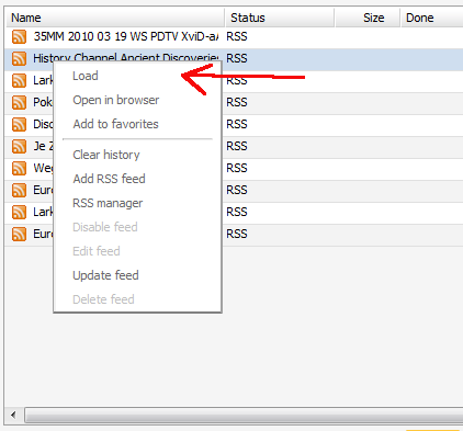 bittorrent rss feed setup