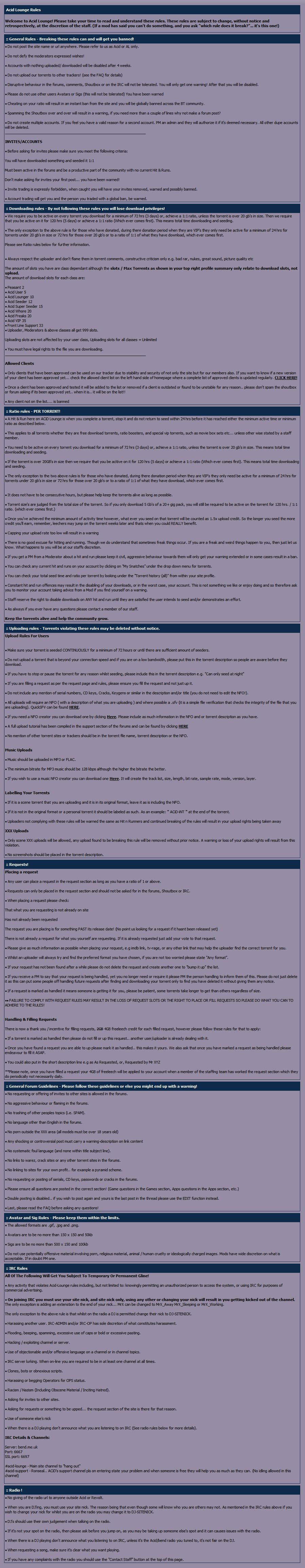 Acid-lounge org uk | ACID | General, 0-day | 2013 Review